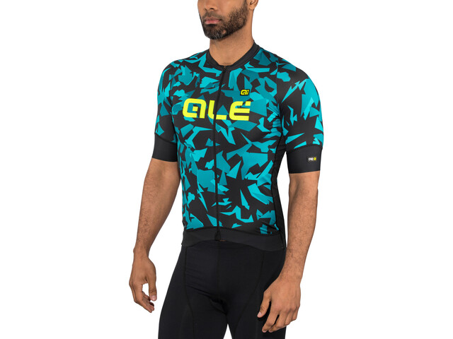 Alé Cycling Graphics PRR Glass Maillot manches courtes Homme, black petr-turquise